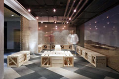 Un espacio de emprendedores realizado con madera PEFC