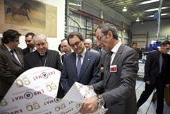 Artur Mas inaugura las nuevas instalaciones de EMBAMAT