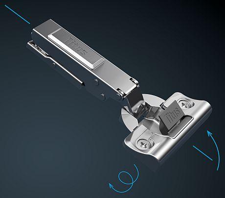 TITUS presenta en MADERALIA su bisagra con amortiguación integrada Glissando T-Type