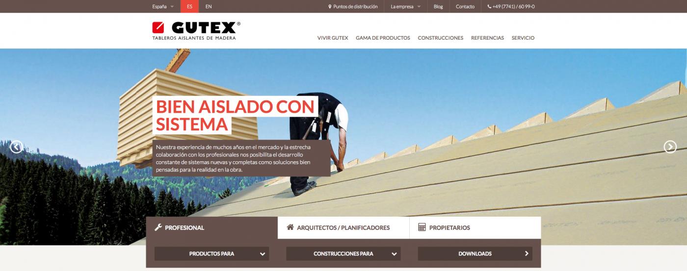 Nueva web de GUTEX
