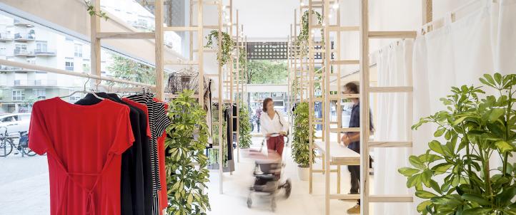 Fresno estadounidense: Luz y Naturaleza en la tienda de ropa MIT MAT MAMA