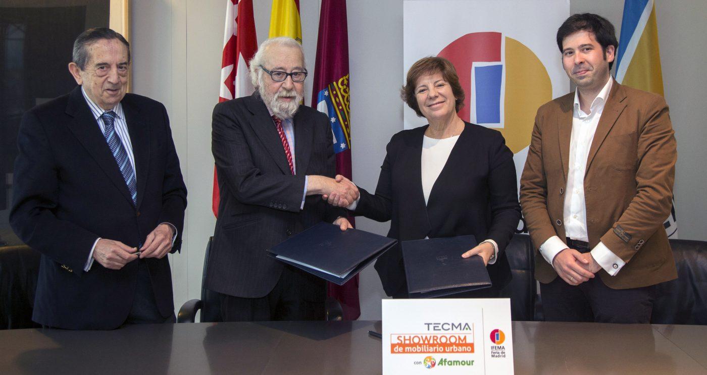 IFEMA y AFAMOUR firman un convenio para la creación en TECMA 2016 del Showroom del Mobiliario Urbano