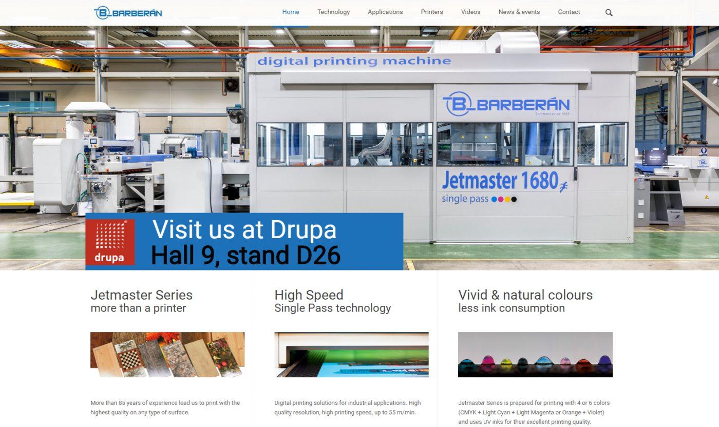 Nueva web de impresión digital de BARBERAN