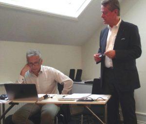 De izda a dcha: Andreas von Móller, Presidente de la ETTF y André de Boer, Secretario General.