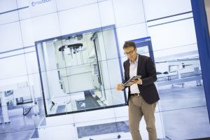 El innovador sistema de video-wall de SCM Group para la virtualización de máquinas en Xylexpo.