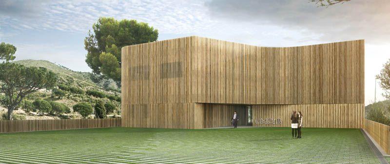 Se inicia el revestimiento en madera del nuevo edificio sostenible del Hospital Germans Trias i Pujol