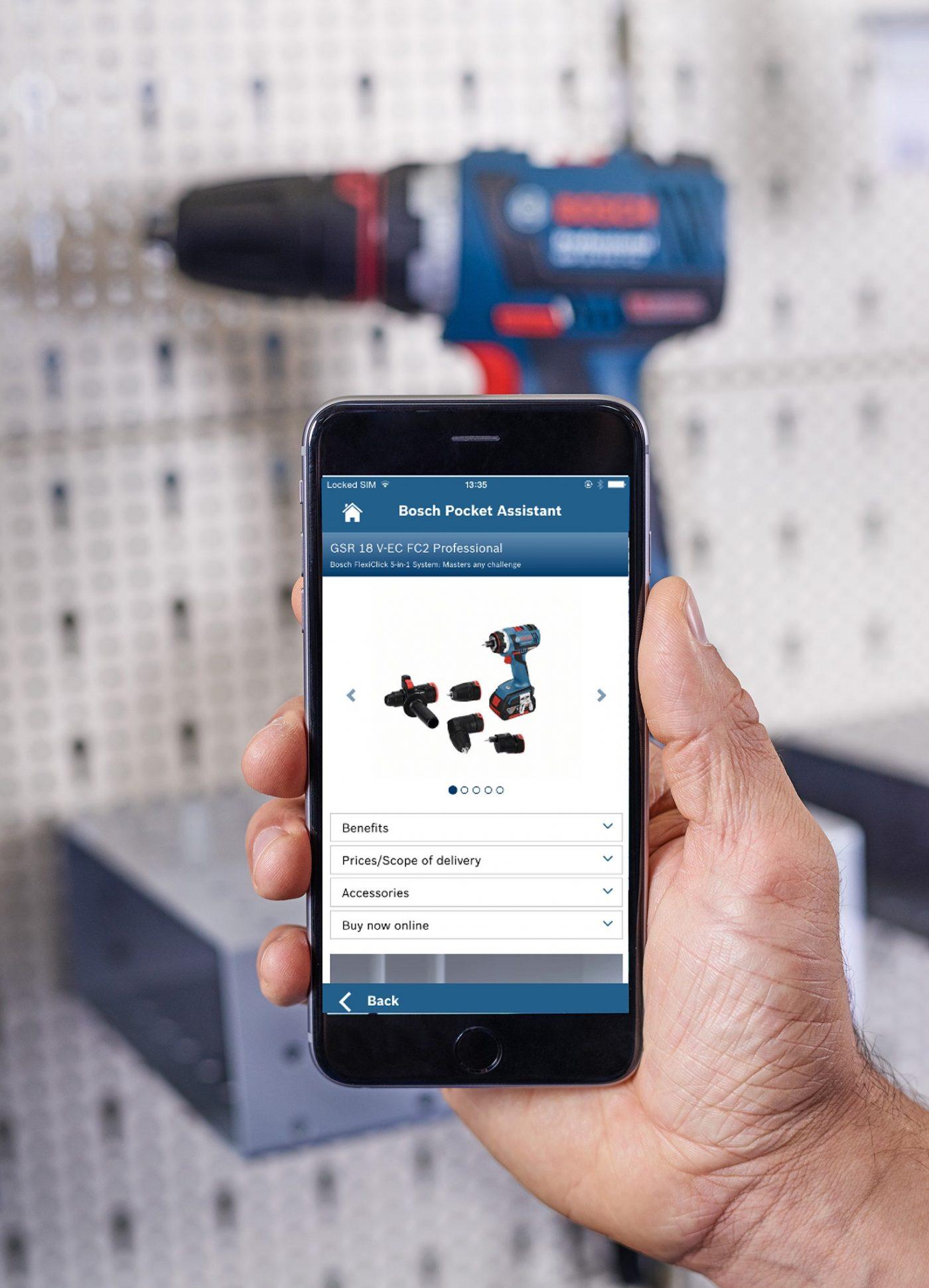 BOSCH Pocket Assistant, la identificación de productos para profesionales