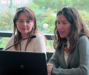 A la izquierda Patricia Gómez Agrela, gerente de COSE.