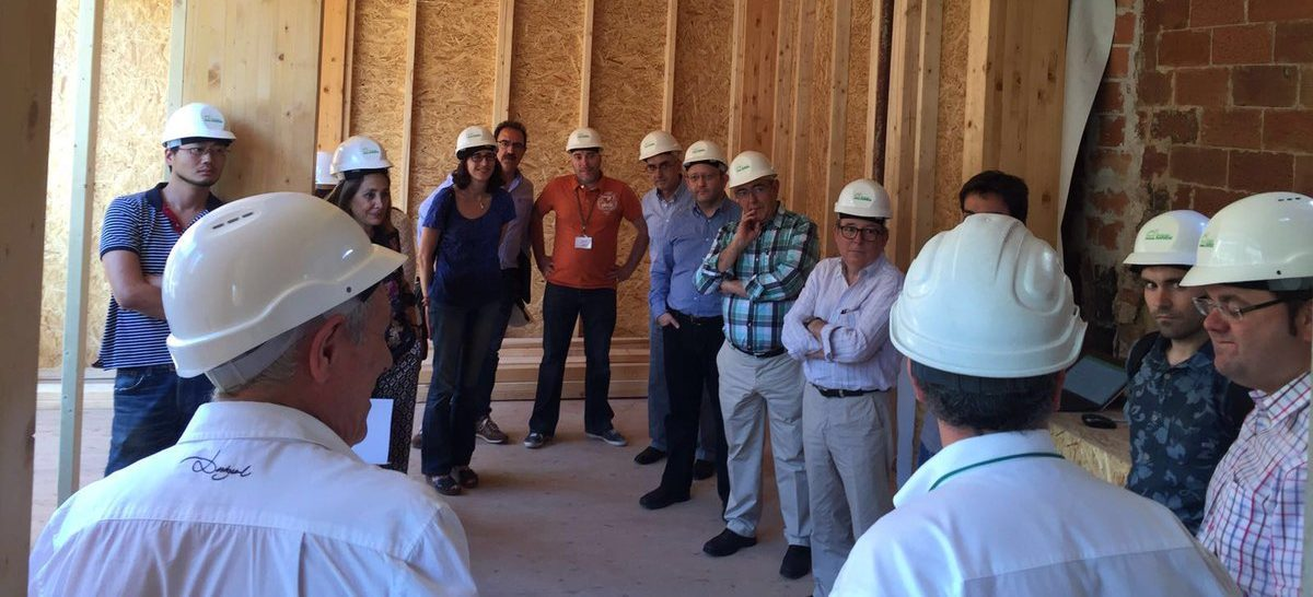 LIGNOMAD visita el edificio de madera que HOUSE HABITAT construye en Sants