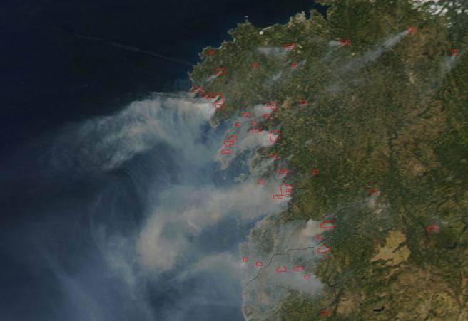 CONFEMADERA GALICIA condena los incendios que destruyen el patrimonio forestal de los gallegos