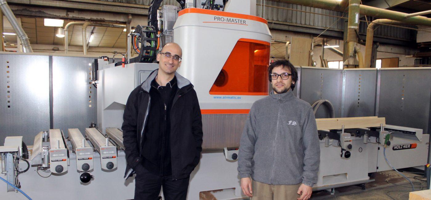FUSTERIA SAIS compra a AIRMATIC un centro de mecanizado PROMASTER, de HOLZ HER