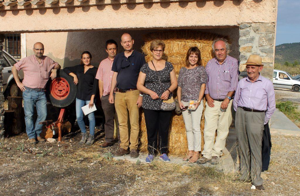 """La jornada de presentación del proyecto MicoPlus en Murcia concluyó con una visita a la finca agroforestal """"La Hoya de Don Gil""""."""