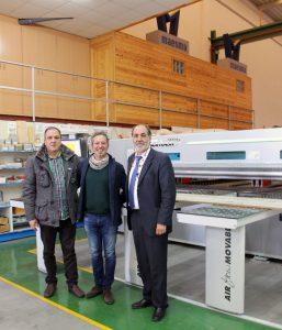 De izquierda a derecha Jordi Pujadas, gerente de LENTICANT, Alessandro Fortunati, Project Manager de GIBEN Tech, y Juan Manuel Alvarez, gerente de MAESMA.