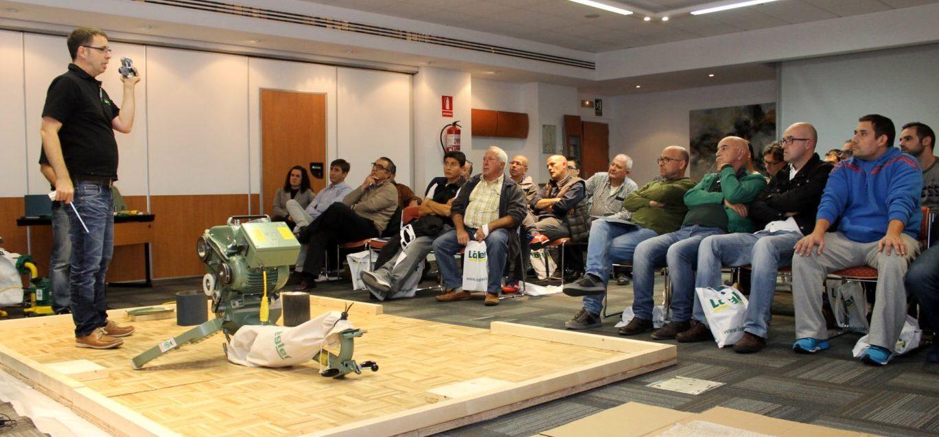 Exito de los seminarios técnicos de LÄGLER en SANT JUST PARQUETS