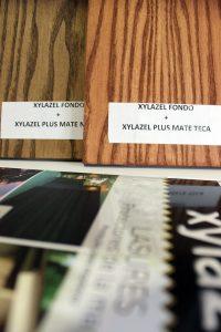 Xylazel está presente en la Galería de Materiales COAM en el área de acabados, con muestras de sus productos más representativos en madera, tratamientos y acabados.