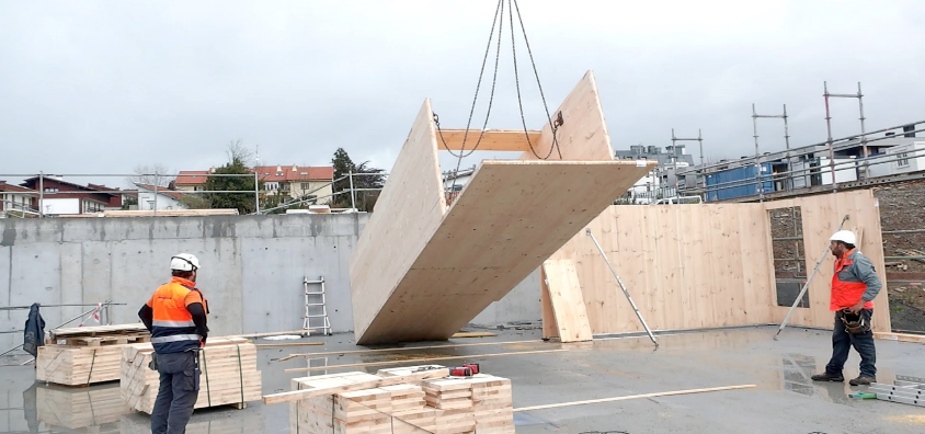 Arranca el montaje de la estructura de madera más grande de Euskadi