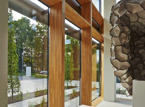 Muro cortina en madera madera sostenible es un peri dico - Muro de madera ...