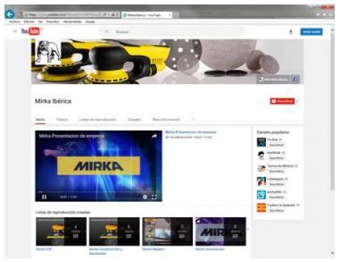 MIRKA Ibérica tiene nuevo Canal de YouTube