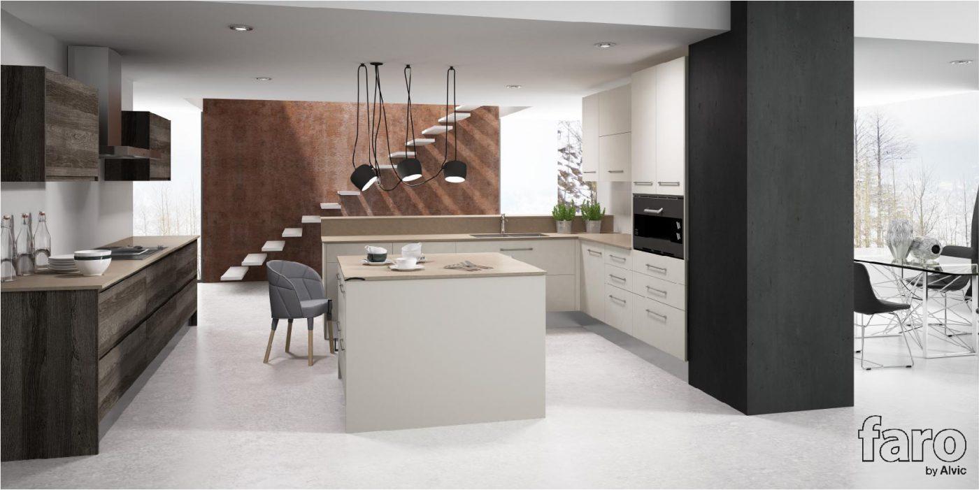 Faro by alvic lanza su nueva colecci n de cocinas madera for Cocinas espanolas modernas