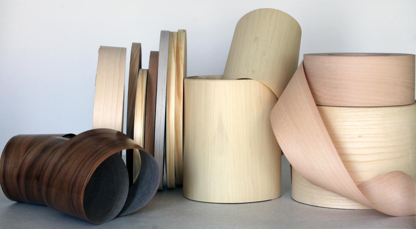 Cantos de chapa de madera