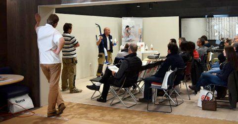 Seminario de productos BONA en Zaragoza