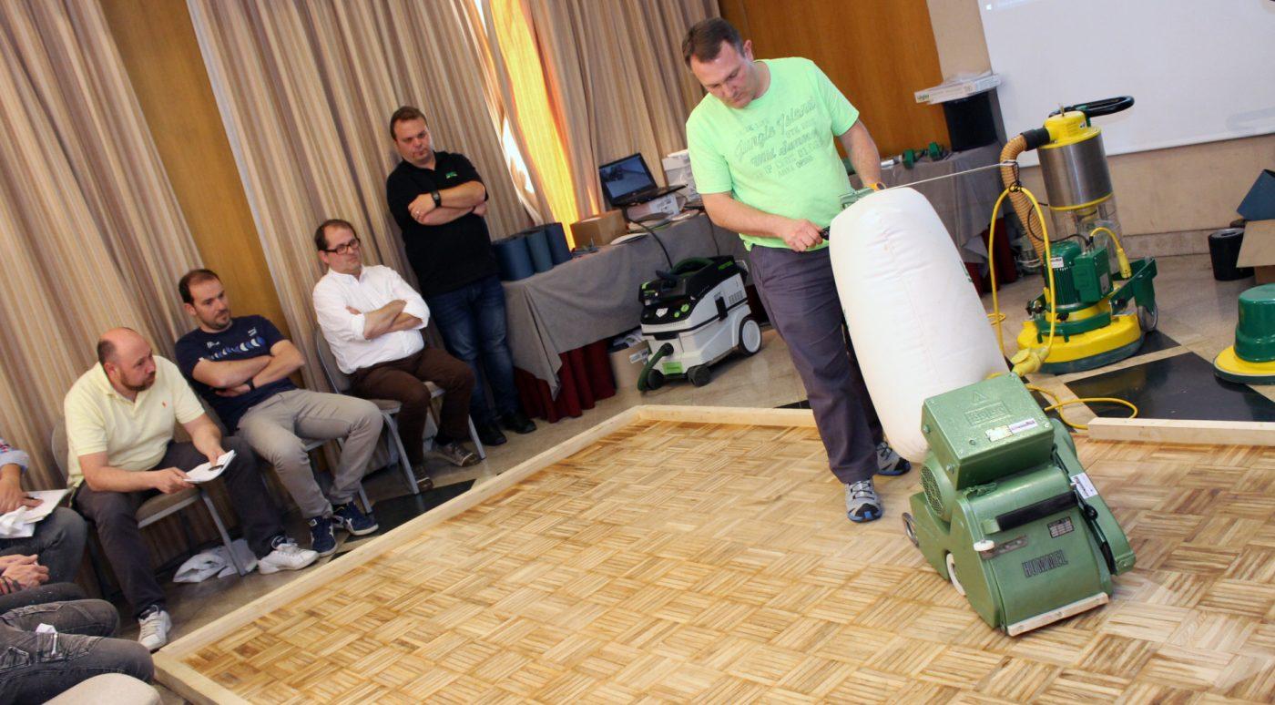 Fresar el suelo de madera con la HUMMEL y la FLIP