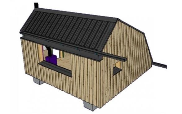 Reconstrucción de la cabaña de pastor de Estanilles