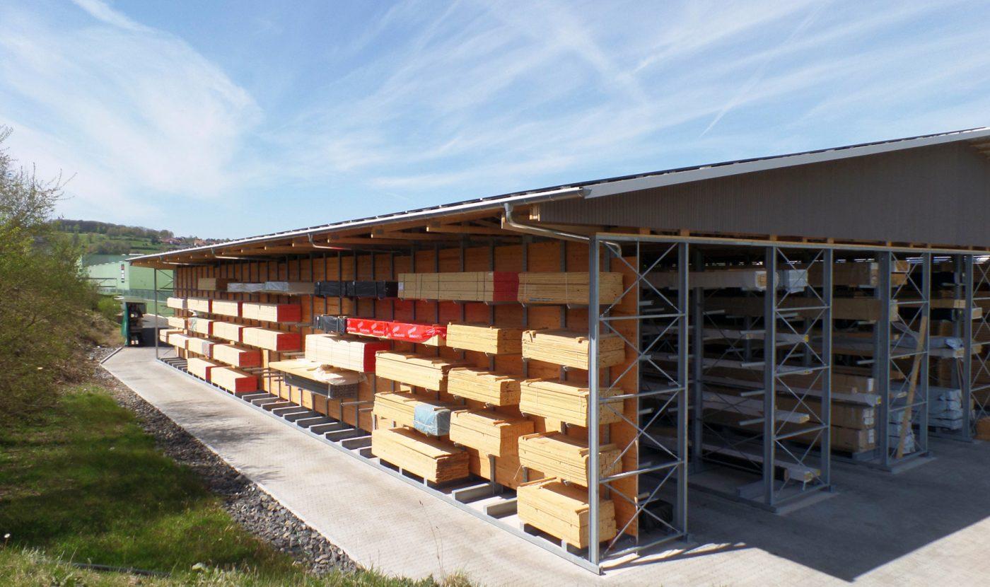 Estanterías cantiléver para la producción de casas prefabricadas