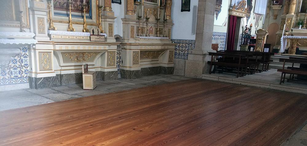 BONA restaura el suelo de la Iglesia de Sao Miguel, en Portugal