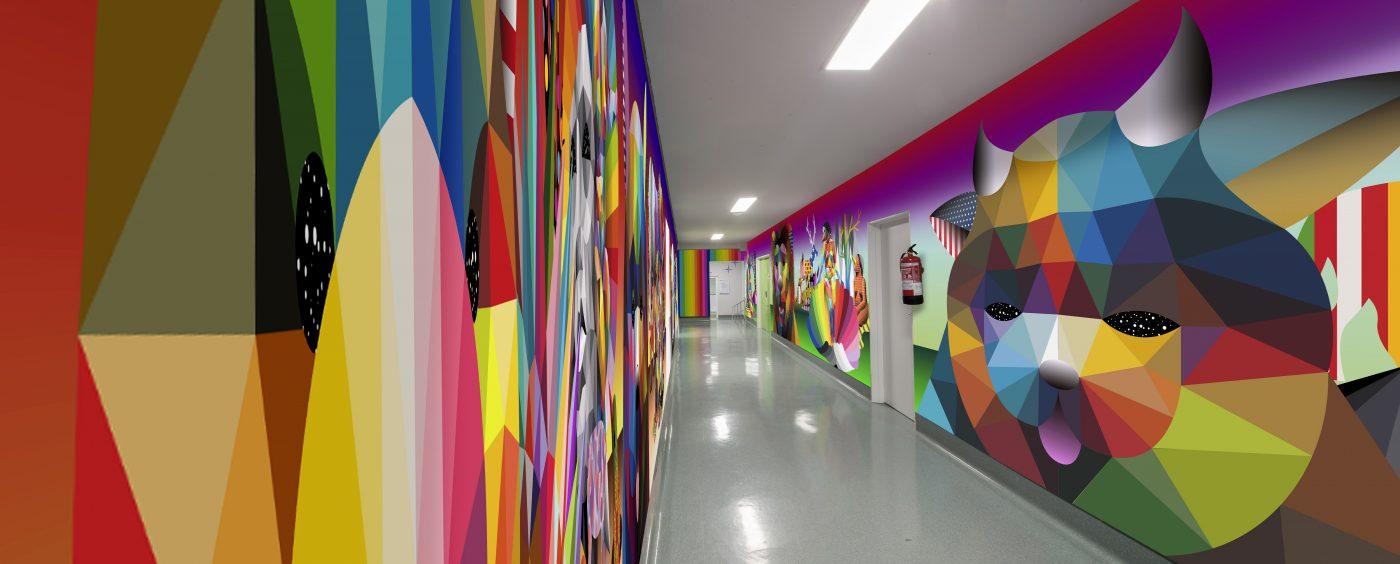Inaugurado en Madrid un mural de Okuda San Miguel