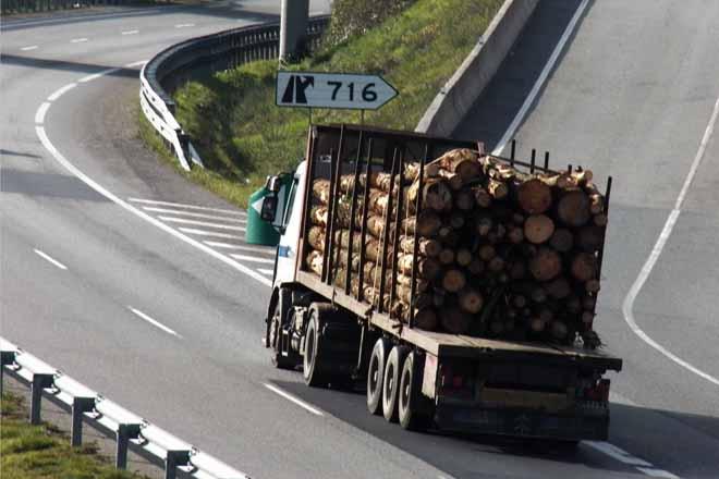 UNEmadera solicita transporte especial para la madera en rollo