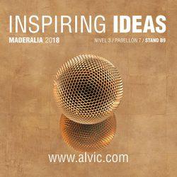 ALVIC presentará en MADERALIA las nuevas propuestas para su Catálogo 2018/2019
