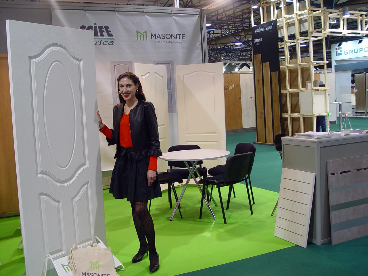 MASONITE exhibió en Maderalia sus tableros para puertas moldeadas