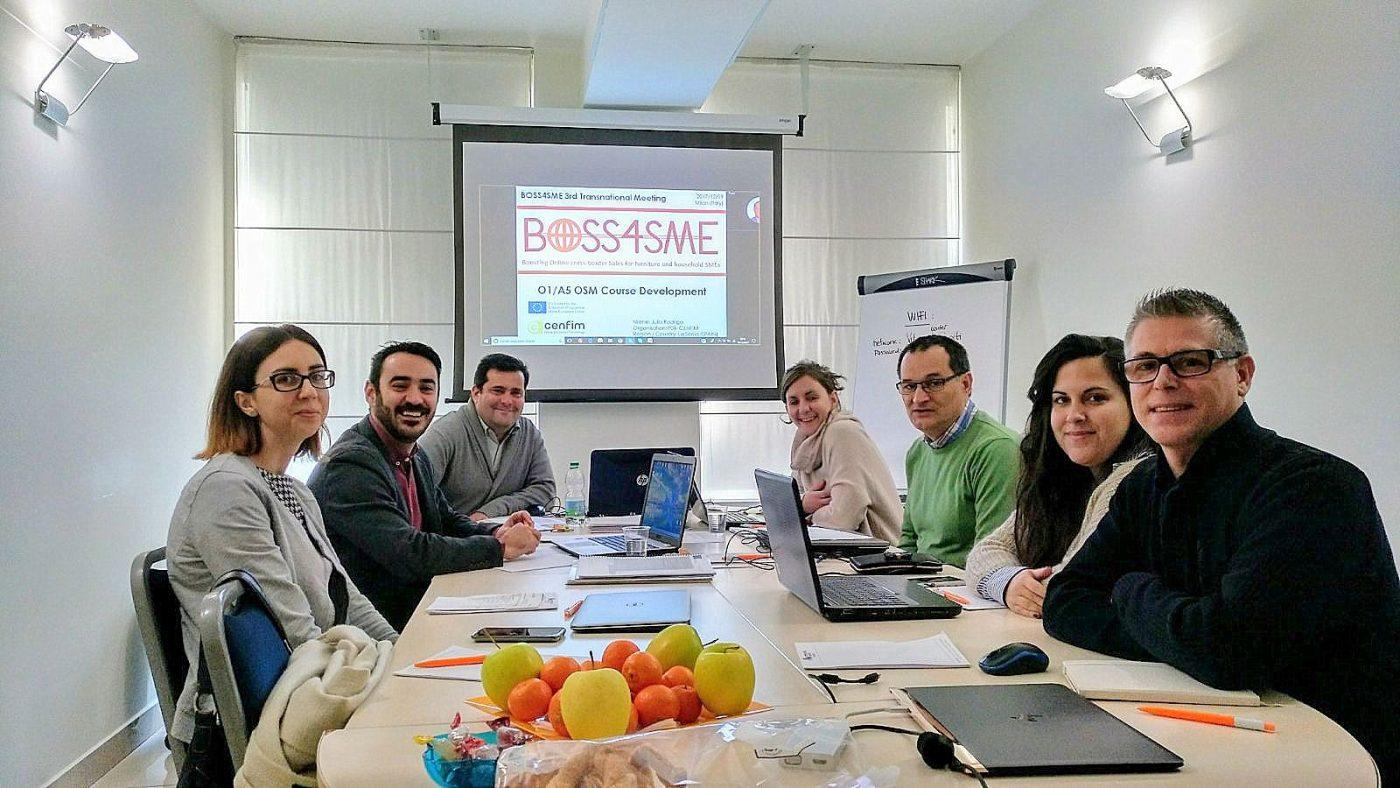 El proyecto europeo BOSS4SME, liderado por CENFIM, desarrolla 42 píldoras formativas para los directores de ventas online
