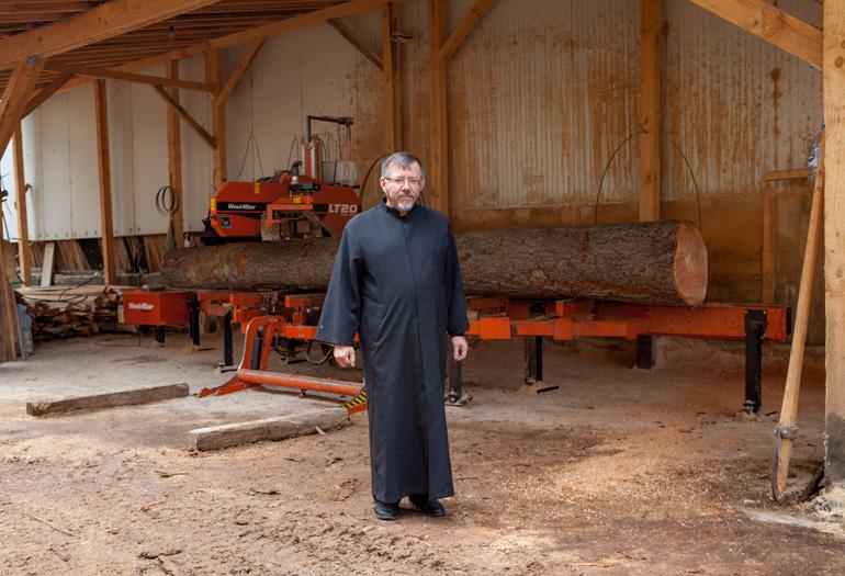 Aserraderos WOOD-MIZER para la restauración de antiguos monasterios en Bulgaria