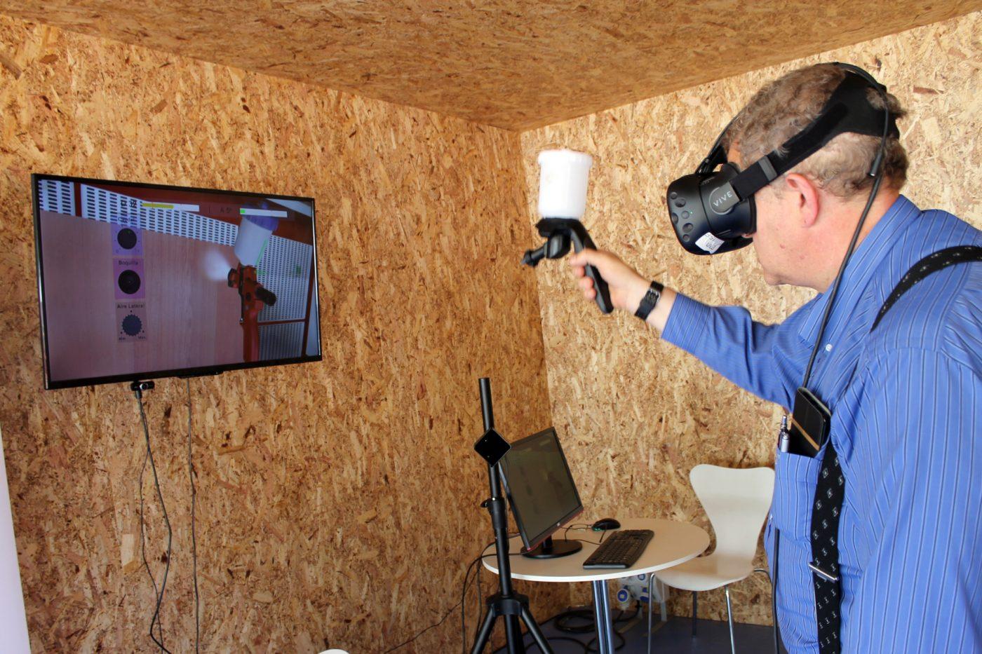 Los visitantes de GALIFOREST pudieron testear un simulador virtual de barnizado