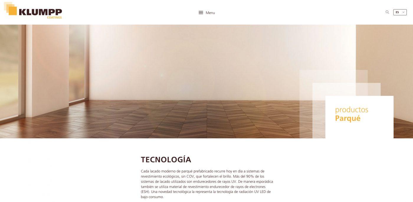 KLUMPP COATINGS presenta su web en español