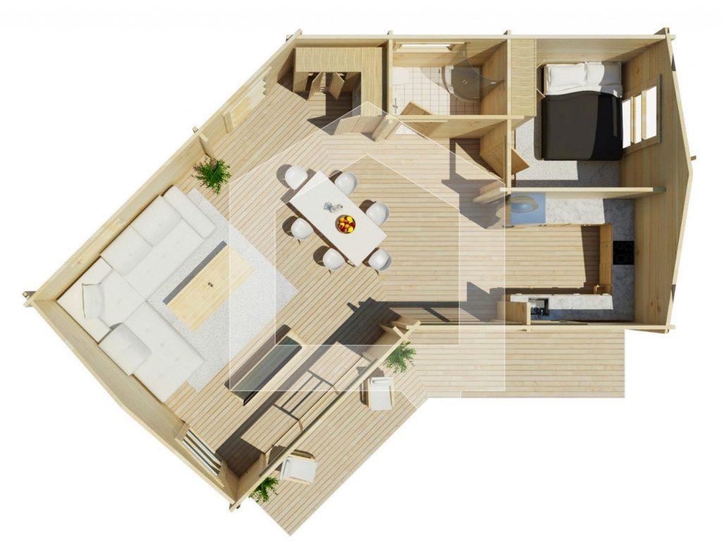 Maestro casas presenta la vivienda moderna volta madera - Las mejores casas de madera ...