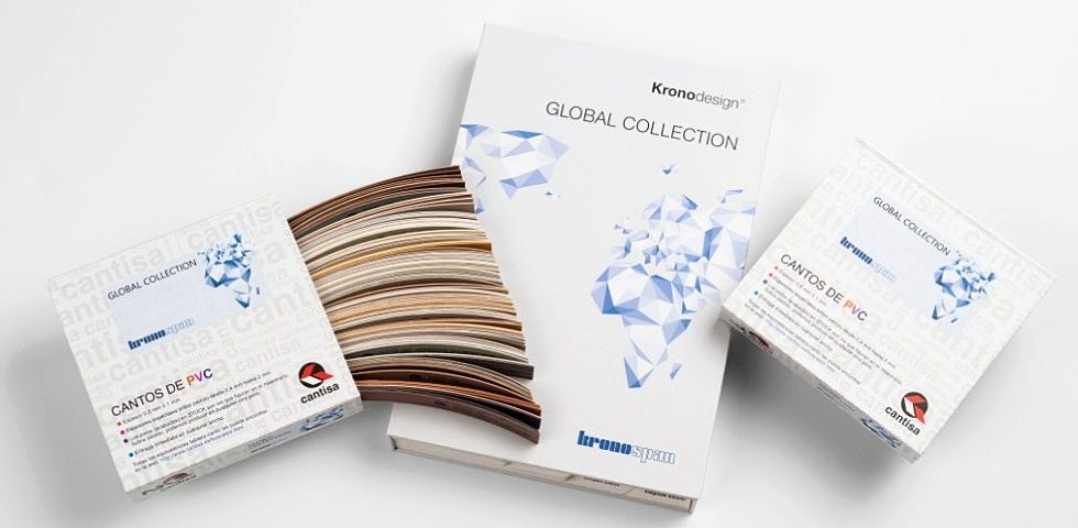 "Cantos disponibles en CANTISA para la gama ""Global Collection"" de KRONOSPAN"