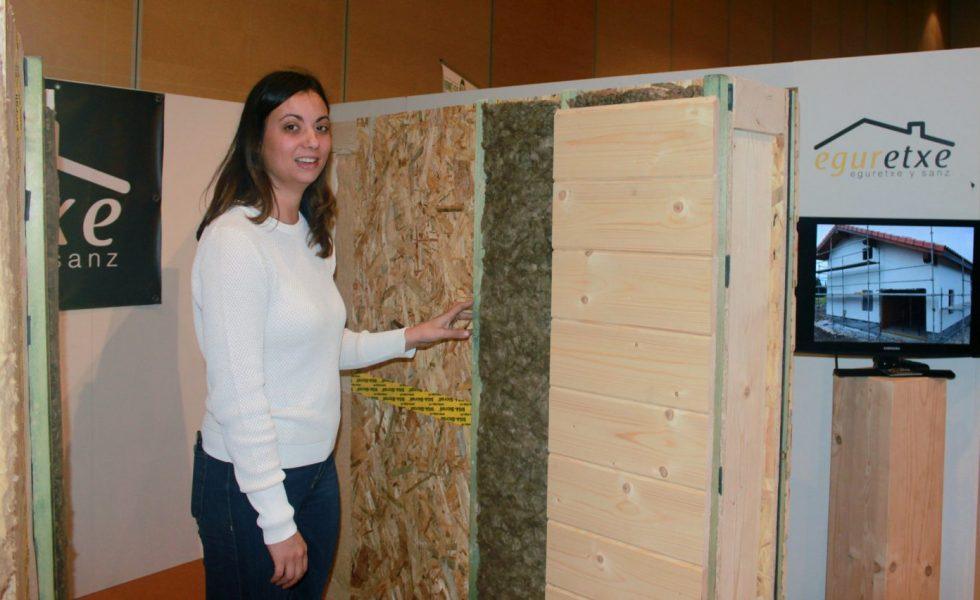 EGURETXE muestra sus avances en tabiquería para casas de madera