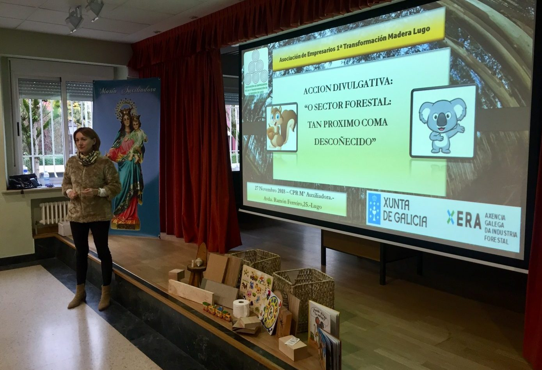 LUGO MADERA lleva el sector forestal a los colegios