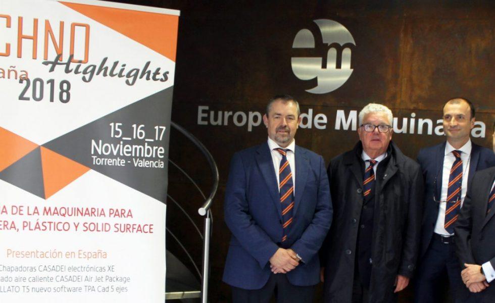 CASADEI y BUSELLATO exhiben su potencial tecnológico en TECHNOHIGHLIGHTS 2018