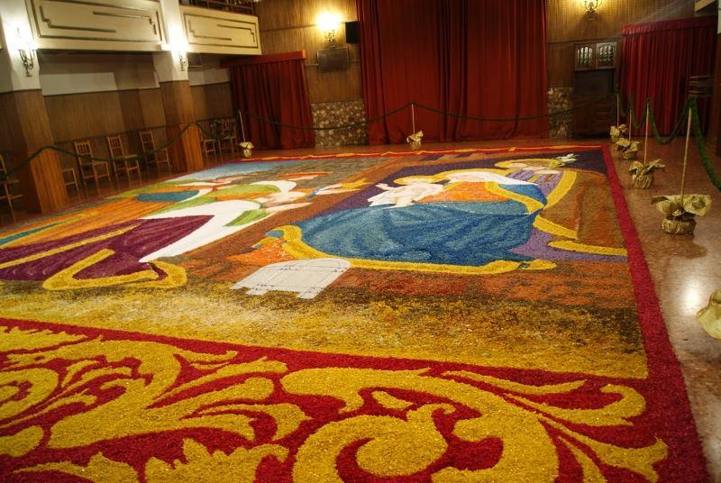 Tamarite de Litera (Huesca) hace un gran Belén de viruta y serrín