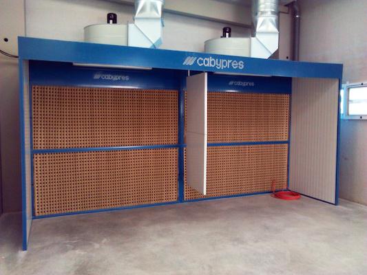 Cabinas de pintura de filtración vía seca CABYPRES