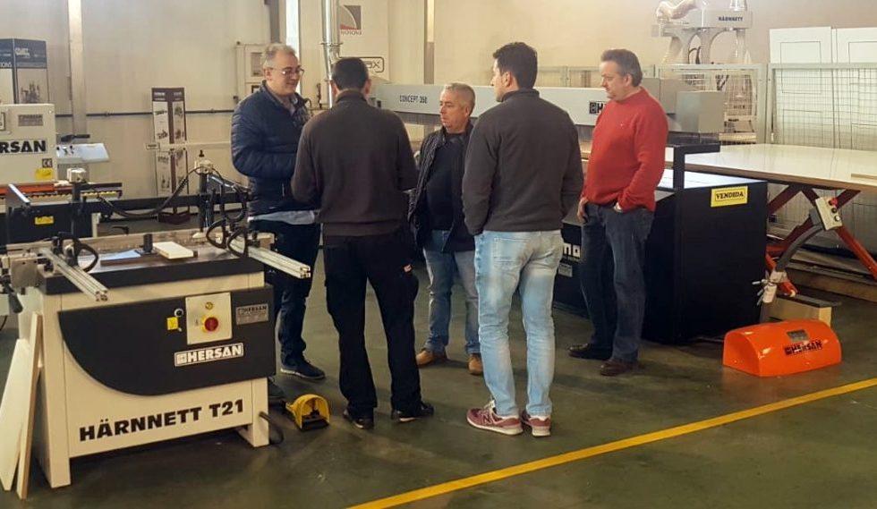 Gran éxito de las jornadas de presentación de maquinaria en HERSAN