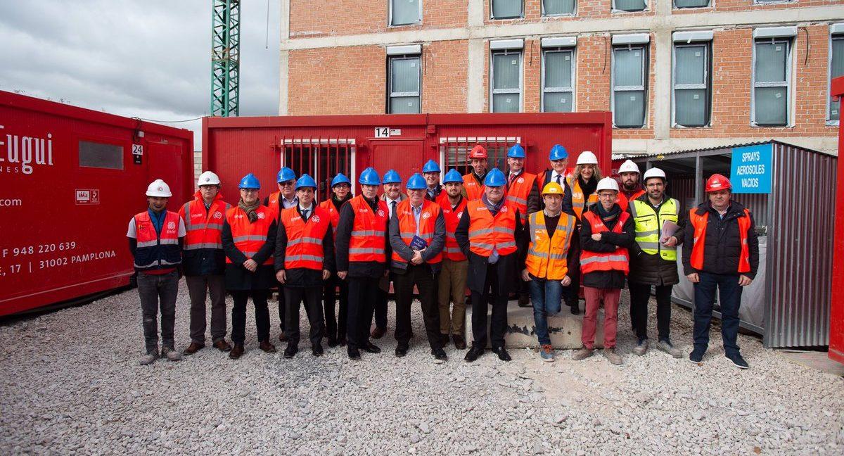 Visita del comité de las Regiones de la Comunidad Europea a las obras de NASUVINSA