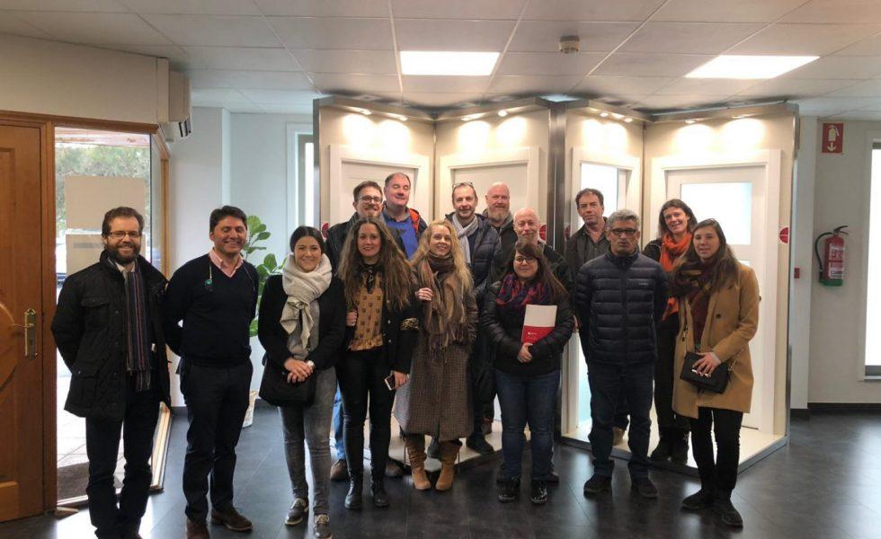 Una delegación del Cluster Eco Construcción Belga se interesa por el trabajo de las empresas del CMD