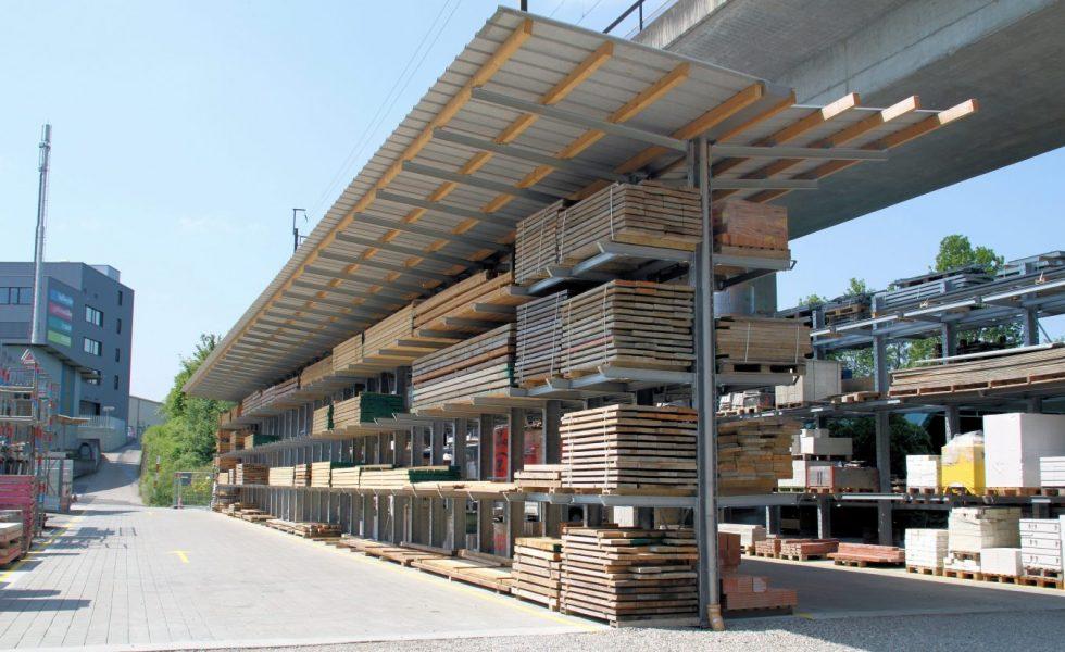 GOTTLIEB MÜLLER equipa su almacén con estanterías cantiléver
