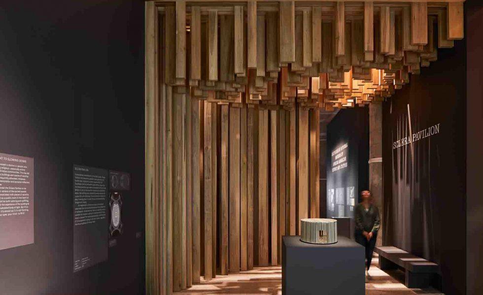El pabellón de madera de tulipwood estadounidense de David Adjaye llega al Museo del Diseño de Londres