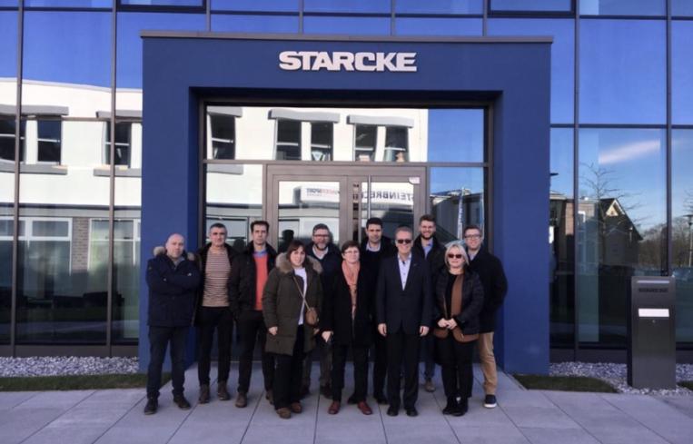 QUIDE visita la fábrica de STARCKE